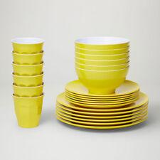 Barel Designs Classic Yellow Melamine 48 Piece Dinner Set - Cups, Bowls, Plates