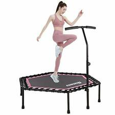 """NEW 48"""" Silent Mini Trampoline Fitness Trampoline Bungee Rebounder, Home Gym"""
