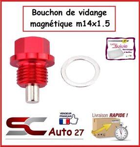 bouchon/boulon de vidange magnétique rouge pour jaguar,volvo,dodge,mazda,M14x1.5