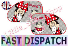 Due Extra Grande Disney Minnie Mouse Bambini Auto Window Sun Shades 65x38cm