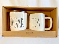 Rae Dunn (SUGAR) Canister & (TEA) Mug Gift Set