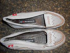 Oliberte grey leather Ralini flats moccasin shoes display 7M New no box save!