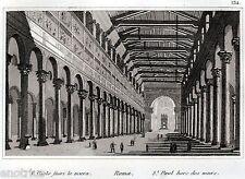 Roma: Basilica di San Paolo Fuori le Mura. Audot. Acciaio. Stampa Antica. 1836
