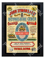 Historic John Symons & Co Devonshire Cyder, Totnes, Devon Advertising Postcard
