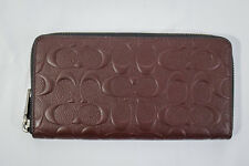 NWT! Coach Crossgrain Leather Mahogany Accordion Men's Large Wallet F58113