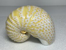 Herend Nautilus Sea Shell Butterscotch Fishnet Figurine 15253