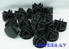 New listing Wire cube connector Black storage cubicle mini grid cubby snap push 17pcs Lot