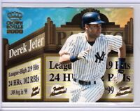 DEREK JETER 2000 Crown Royale Feature Attractions #19 ($.50 SHIPPING)