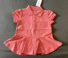 Baby Girl 24 Month Ralph Lauren Pink Logo Short Sleeve Mesh Peplum Tennis Dress