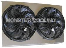 "Chevy Malibu Custom Aluminum Radiator Fan Shroud & 2-14"" Fans -17""H x 28 1/4""W"