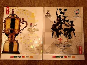 2 x Rugby World Cup 2019 programme England vs South africa final