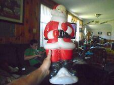 Vintage 1973 Lighted Santa Claus Plastic Blow Mold Carolina Enterprises