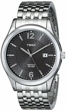 Timex Elevated Classics Men's  Silver Steel Expansion Band Indiglo Watch T2N848