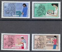 Germany 1987 MNH Mi 1315-1318 Sc B654-B657 Youth in Industry.Medicine.Food **