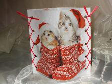 DekoWindlicht Katzen mit Weihnachtsmütze Tischlicht Mitbringsel Geschenkidee