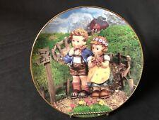 "Danbury Mint M.J. Hummel Collector Plates Little Champions ""Country Crossroads�"