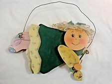 """Grandma Wall Decor Flying in with Hearts Die Cut Wood 10"""" x 10"""" Hand Painted"""