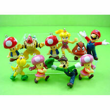 NEW 10 pcs Super Mario Bros Jewelry Making Assorted Figure Charms Pendant Gift