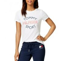 TOMMY HILFIGER SPORT Women's Logo Crewneck Short Sleeve Shirt Top TEDO
