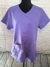ScrubStar Scrub Top Medial Nurse Medium Purple/Teal V-Neck