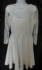 BNWT Miss Faceless size 10/12 cream dress with lace sleeves