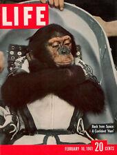 A4 impresión: la revista Life enviar un mono en el espacio a 1961 (Vintage Foto)