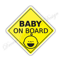 Baby on Board Child Full Color Adhesive Vinyl Sticker Window Car Bumper #041