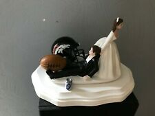 Denver Broncos Cake Topper Bride Groom Wedding day  Funny Football Theme