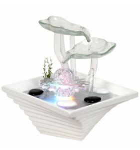"""Fontaine d'intérieur """"Crystal Flower""""en verre et céramique"""
