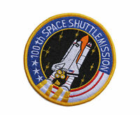 Embroidered NASA 100th Space Shuttle Mission Tactical Morale Militray Hook Patch