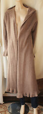 £200 MASAI BROWN WOOL/ANGORA LONG CARDIGAN SIZE 14-16/EU 42-44 VGC STRICKJACKE