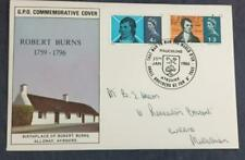 More details for 1966 robert burns illustrated first day cover rare mauchline postmark cat £35