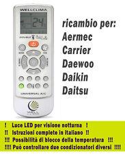 Telecomando condizionatore climatizzatore Aermec Carrier Daewoo Daikin Daitsu