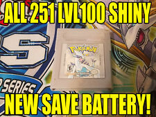 POKEMON SILVER All 251 SHINY GAME UNLOCKED AUTHENTIC & NEW BATTERY!