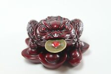 Red Fortune Toad Money Coin Frog FengShui Decoration Chinese Charm of prosperity