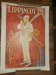 Lippincotts Vintage Advertising 1976 lithographic poster printed W Germany