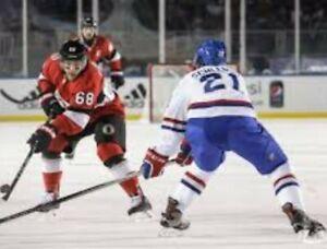 MIKE HOFFMAN OTTAWA SENATORS 2017 NHL100 CLASSIC GAME WORN JERSEY ST.LOUIS BLUES
