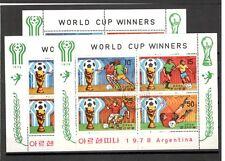 Argentina 1978 3 Sheets DPRK