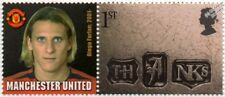 DIEGO FORLAN Manchester United Football Club Stamp & Smiler Label (GB 2002)