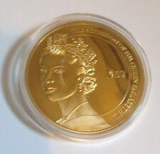 HM Queen Elizabeth 2 Diamond Jubilee Cu Plaqué or pièce commémorative-Bretagne