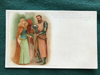 Lancelot Elaine Alfred Lord Tennyson Color Art Postcard ca. 1905