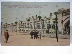 1913 POSTCARD E WALK VAUDEVILLE RESTAURANT WHITE CITY AMUSEMENT PARK CHICAGO IL