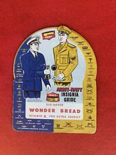 WWII Era Wonder Bread Army And Navy Insignia Guide c1942