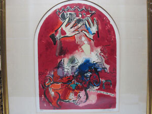 Vintage Marc Chagall The Tribe of Judah Lithograph Pencil Signed & Numbered yqz
