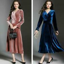 Party/Cocktail Long Sleeve Velvet Dresses Ball Gowns for Women