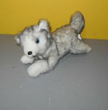 """Little Brownie Bakers Girl Scouts Husky Dog 10"""" Gray White Wolf Soft Bean Plush"""