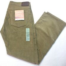 Men Dockers Jean Cut Straight Fit Flat Front Stretch Corduroy Beige Pants XX0022