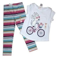 Gymboree Girls Puppy Bike Tee Leggings Size 4 NWT