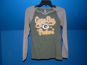 GREEN BAY PACKERS GIRLS LONG SLEEVE SHIRT SIZE Med 10/12 NWT NFL List $24.99