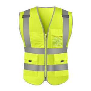 High Visibility Reflective Safety Vest for Construction Site Road Car Work